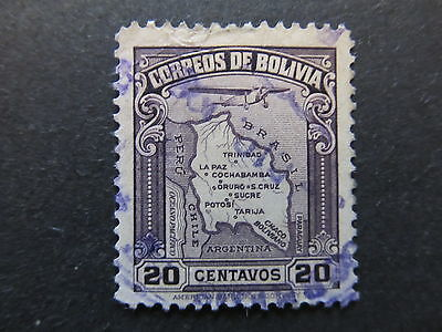 A4P31 Bolivia Air Post Stamp 1935 20c used #86