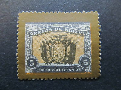 A4P31 Bolivia 1914 Unissued 5c mh* #98