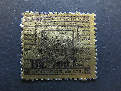A4P31 Bolivia 1960 surch 700b on 25c used #99