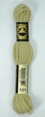 DMC TAPESTRY WOOL, 8m SKEIN, Colour 7371 VERY LIGHT DRAB BROWN GREEN