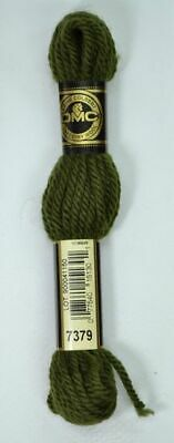 DMC TAPESTRY WOOL, 8m SKEIN, Colour 7379 DARK GREY GREEN