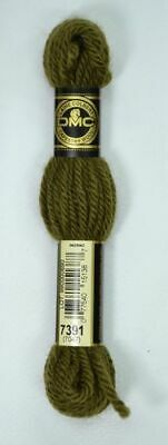 DMC TAPESTRY WOOL, 8m SKEIN, Colour 7391 DARK GOLDEN OLIVE GREEN (7047)