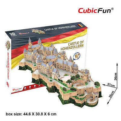 Castello Di Hohenzollern Germania Kit 3D In Foam CUBICFUN CFMC232H Model