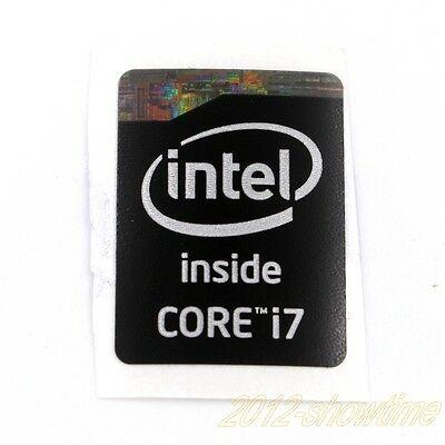 2pcs  Intel Core i7 Inside Sticker 4/5 Gen 15.5 x 21mm laptop Badge BLack ST017