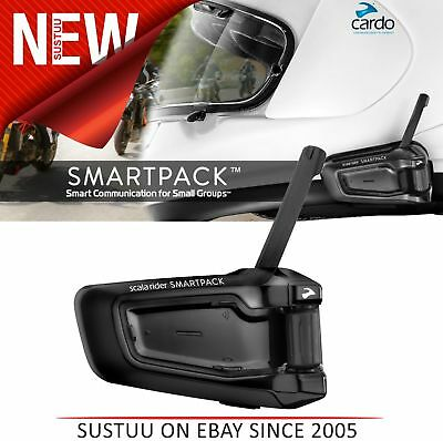 Cardo Scala Rider SmartPack│Solo Motorcycle Helmet Bluetooth Intercom Headset