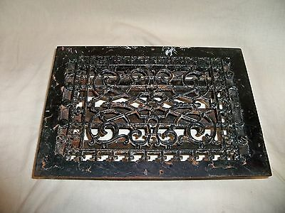"""Antique Victorian Fancy Cast Iron Heater Vent Grate or Cover 10 x 13 1/2"""""""