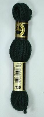DMC TAPESTRY WOOL, 8m SKEIN, Colour 7429 VERY DARK BLUE GREEN
