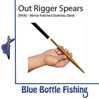 Reelax - Spears for Outrigger (pair) - Mirror Polished Stainless