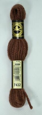 DMC TAPESTRY WOOL, 8m SKEIN, Colour 7432 ULTRA VERY DARK DESERT SAND