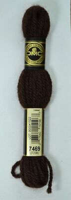 DMC TAPESTRY WOOL, 8m SKEIN, Colour 7469 BLACK BROWN
