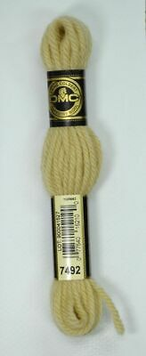 DMC TAPESTRY WOOL, 8m SKEIN, Colour 7492 VERY LIGHT OLD GOLD