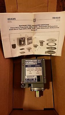 Square D 9012 GAW-2 Machine Tool Pressure Switch (NEW) ** REDUCED**