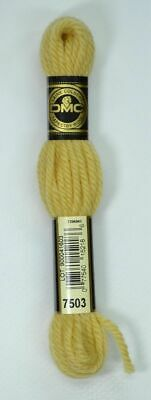 DMC TAPESTRY WOOL, 8m SKEIN, Colour 7503 LIGHT OLD GOLD