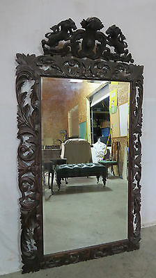 Antique Griffin Mirror Carved Full Length Beautiful