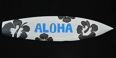 Wanddekoration Surfboard Hawaii Design Aloha Hibiskus Surfbrett Wakeboard