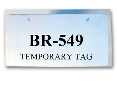 CAR DEALER LICENSE Plate Temporary Tag Plastic Bags with