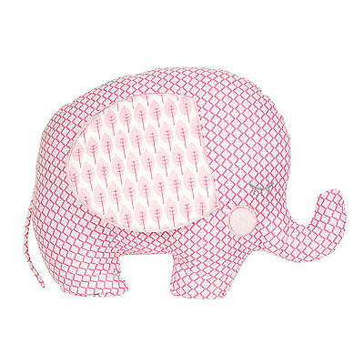Pink Elephant Cushion Toy Pillow Childs Bedroom Baby Shower Nursery Retro Shabby