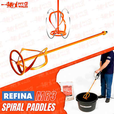 Refina Plaster Mixing Paddle MR3 - Positive Mix - Whisk -