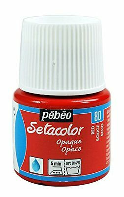 Pebeo Pebeo Setacolor Opaque Fabric Paint 45-Milliliter Bottle, Red,Red