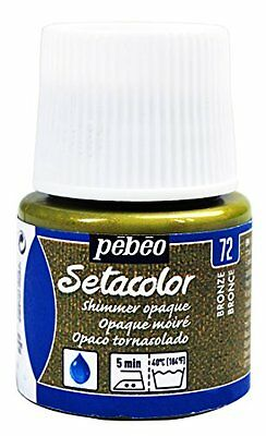 Pebeo Pebeo Setacolor Opaque Fabric Paint 45-Milliliter Bottle, Shimmer Bronze,S