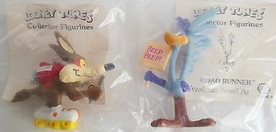 Lot of 2 Road Runner & Wile E. Coyote 1990 Shell Gas Warner Bros Looney Tunes
