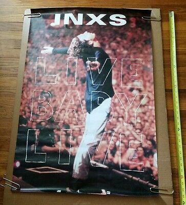 "INXS ""LIVE BABY LIVE"" U.S. PROMO POSTER FROM 1991 ultra rare PROMOTIONAL"