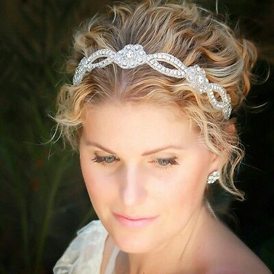 Women Headdress Wedding Hairband Lace Pearl Bride Headband Rhinestone