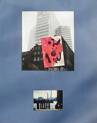 Collage Hamburg BLAU - Herbert Kindermann - Hamburg 1972