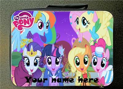 Personalised My Little Pony Insulated Lunch Bag 24CM X 18CM  Black Rainbow Dash