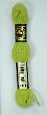 DMC TAPESTRY WOOL, 8m SKEIN, Colour 7549 LIGHT MOSS GREEN
