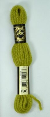 DMC Tapestry Wool, 8m SKEIN, Colour 7583 LIGHT OLIVE GREEN