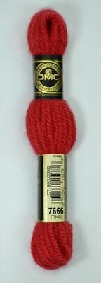 DMC Tapestry Wool, 8m SKEIN, Colour 7666 BRIGHT RED, 7849