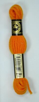 DMC TAPESTRY WOOL, 8m SKEIN, Colour 7740 LIGHT PUMPKIN, 7052