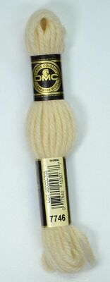 DMC TAPESTRY WOOL, 8m SKEIN, Colour 7746 ULTRA VERY LIGHT TAN