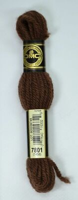 DMC TAPESTRY WOOL, 8m SKEIN, Colour 7801 DARK COCOA, 7458