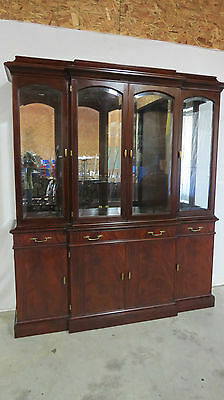 Henkel Harris Mahogany China Cabinet Breakfront