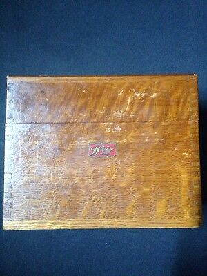 Vintage Weiss Wood Recipe Box Dovetail