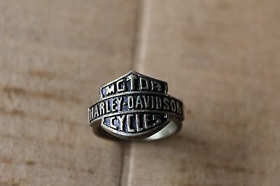 Harley Davidson Ring Sterling Silver 925 Size 9 1/2 ** Free Shipping **