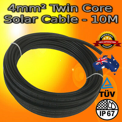 4mm² TWIN CORE SOLAR CABLE PV PHOTOVOLTAIC BUY PER 10M