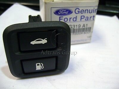 Genuine Ford Ba Bf + Mk2 Falcon Boot Lid Fuel Flap Dash Switch Black Charcoal A1