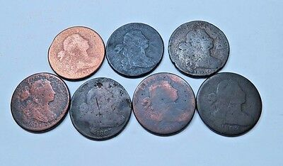(7) Draped Bust Large Cent Lot  // Mixed Dates+Varieties  (LCL294)