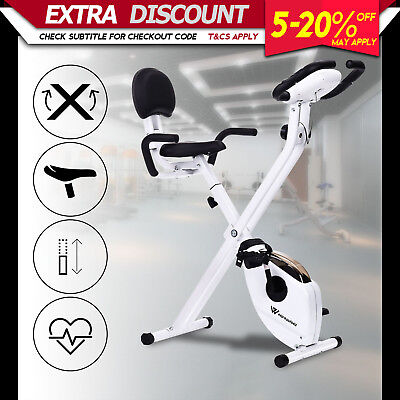 Folding Recumbent Exercise Bike Magnetic Trainer Gym Home Fitness Equipment