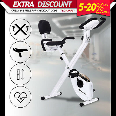 Folding Recumbent Exercise Bike Trainer Home Gym Fitness Flywheel X-Bike Bicycle