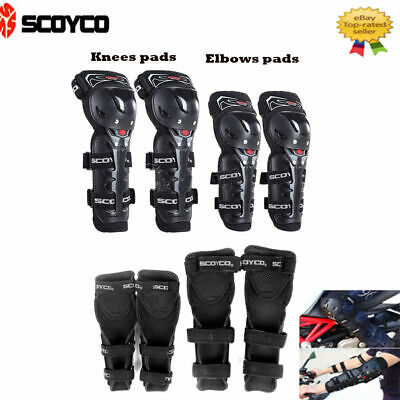 Scoyco Motorcycle Riding Adjustment Elbow Knee Shin Armor Guard Pads Protectors
