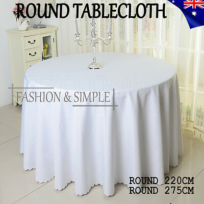 Tablecloth Wedding Table Cloth Round Party Banquet Event Cover Decor White AU
