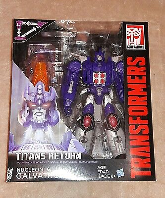 Transformers Generations Titans Return Voyager Class Nucleon & GALVATRON!