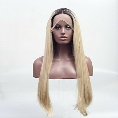 Arimika Ombre Blonde Heat Safe Synthetic Lace Front Wig For Women