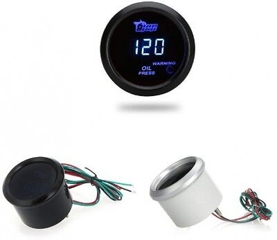 KKmoon 52mm LCD Digital Oil Pressure Meter Gauge with Sensor for Automobile Car