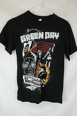 2009 Green Day 21st Century Breakdown Concert Band Tee T-Shirt - Small S