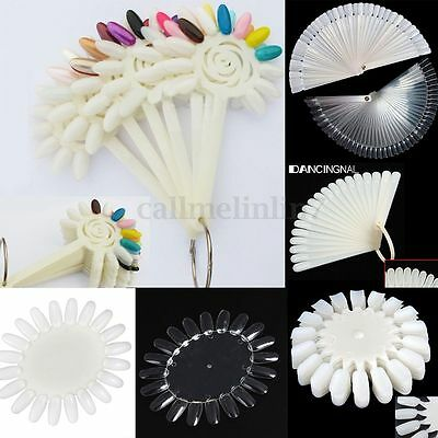 False Nail Art Tips Acrylic Pop Polish Display Fan Practice Wheel Stick Manicure